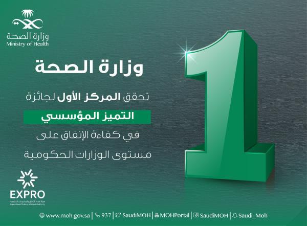«الصحة » تحقق المركز الأول لجائزة «التميز المؤسسي»