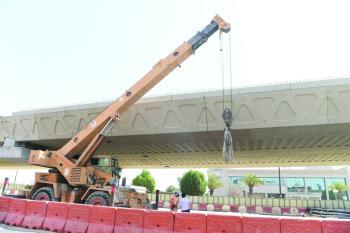 72 % إنجازا بجسر تقاطع طريق الأمير نايف مع الشارع الثامن