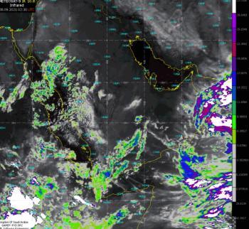 الطقس.. أمطار على 4 مناطق وأتربة على شرق ووسط المملكة