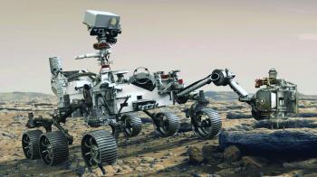 جمع أول عينة معدنية من الكوكب الأحمر