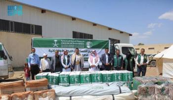 مأرب.. مركز الملك سلمان للإغاثة يقدم مساعدات متنوعة للنازحين