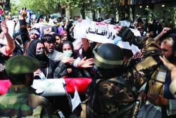 الأمم المتحدة: «طالبان» تتعامل بـ«عنف» مع احتجاجات أفغانستان