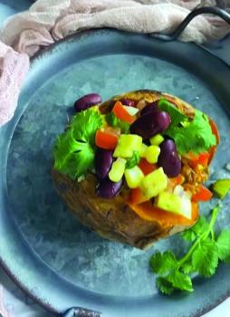 إعداد «تاكو البطاطا الحلوة»