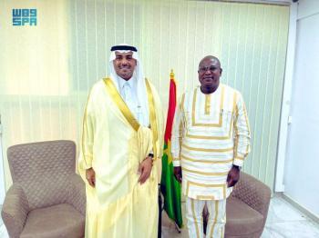 سفير المملكة يبحث مع وزير البنية التحتية البوركيني أوجه التعاون