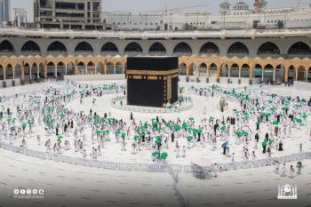 توزيع 4 آلاف مظلّة على قاصدي المسجد الحرام