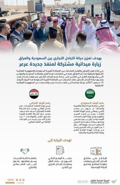 زيارة ميدانية بين المملكة والعراق لتسهيل الإجراءات بـ«جديدة عرعر»