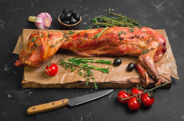 لحم الأرانب منخفض السعرات الحرارية