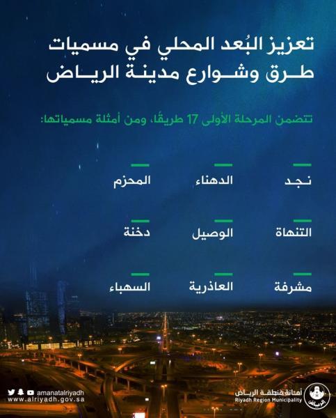 الرياض.. مبادرة لتعزيز البُعد المحلي في مسميات الطرق والشوارع