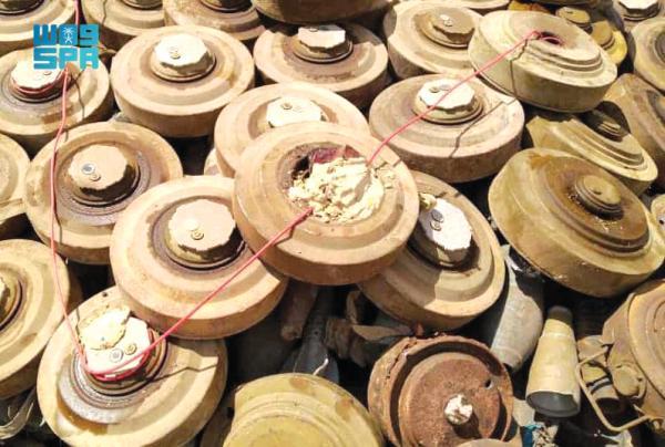«مسام»: انتزاع 1.351 لغماً في اليمن خلال أسبوع
