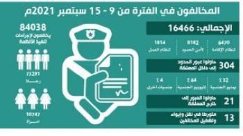 ضبط 16.4 ألف مخالف للإقامة والعمل وأمن الحدود
