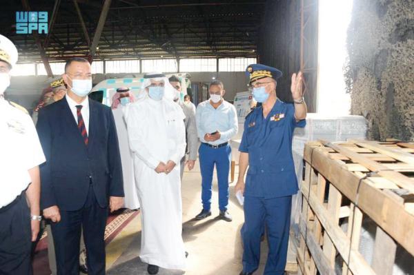 وصول طائرة إغاثية لتونس ضمن الجسر الجوي السعودي