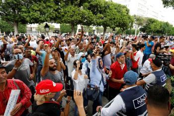 النهضة يفشل في حشد مناصريه ضد الرئيس التونسي