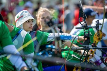أخضر السهام يستهل مشوار في بطولة العالم