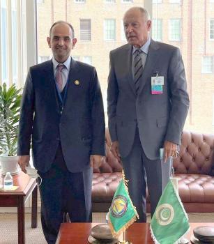 «الحجرف» يبحث تعزيز آليات التعاون العربي مع «أبو الغيط»