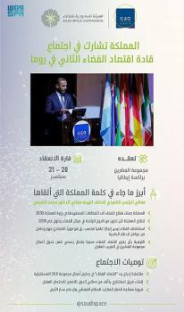المملكة تشارك في اجتماع تعزيز دور اقتصاد الفضاء عالميًا