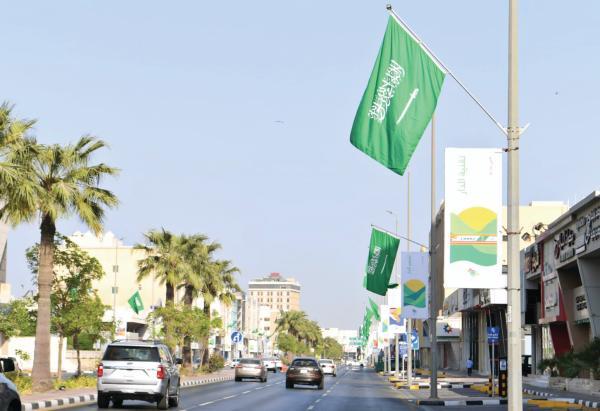 «الشرقية» تتزين بـ 13 ألف علم و929 مجسما جماليا في «اليوم الوطني»