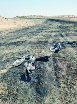 «حرق كيابل» بارتفاع  3 أمتار غرب الدمام.. و5 جهات حكومية «لا تعلم»