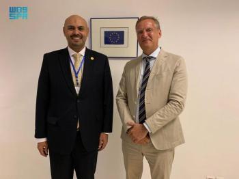 سفير المملكة لدى بوركينافاسو يلتقي مندوب بعثة الاتحاد الأوروبي