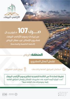 107 ملايين ريال لمشروع الإسكان غرب مطار الرياض
