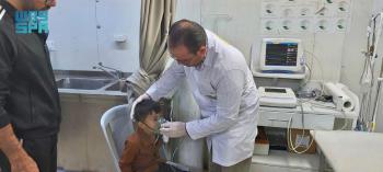 عيادات مركز الملك سلمان تقدم خدماتها لـ 427 بمخيم الزعتري