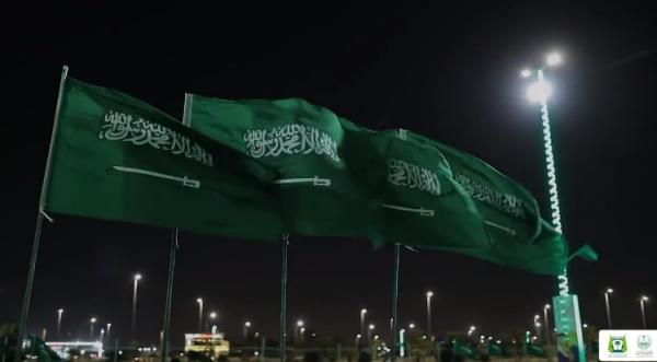 حفر الباطن تتزين بالأعلام احتفاءً باليوم الوطني