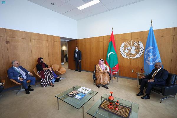 وزير الخارجية ونظيره المالديفي يستعرضان الموضوعات المشتركة