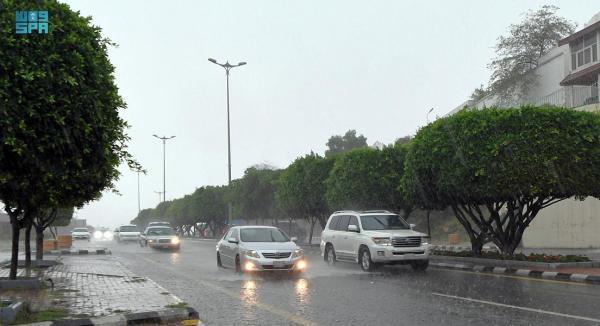 أمطار رعدية على عسير