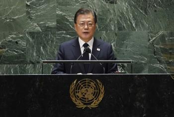 الرئيس مون يدعو إلى إعلان انتهاء الحرب الكورية