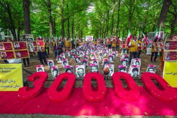 إيرانيون يتظاهرون في أنحاء العالم للتنديد بكلمة «رئيسي» بالأمم المتحدة