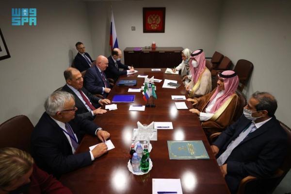وزير الخارجية ونظيره الروسي يبحثان مستجدات الأوضاع