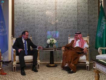 وزير الخارجية يبحث المستجدات مع بريت مكغورك