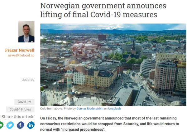 عاجل : تقرير «مُبشر» ترجمته «اليوم».. النرويج تعود للحياة الطبيعية