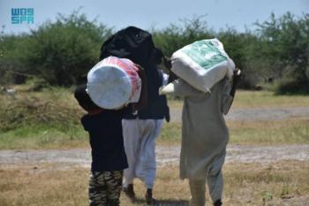 مركز الملك سلمان يوزع مساعدات لمتضرري فيضانات السودان