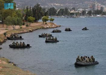 القوات البرية تختتم مناورات التمرين الرباعي باليونان