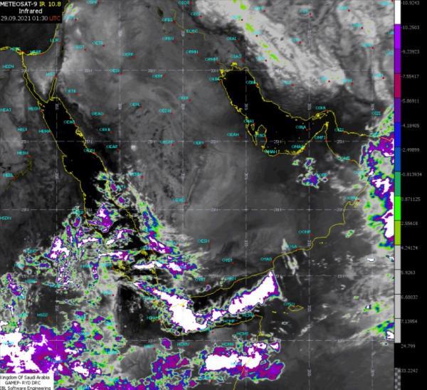 الطقس: استمرار الأمطار على 4 مناطق وضباب على سواحل الشرقية