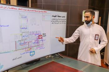 منهجية عمل مشتركة لتصريف مياه الأمطار برأس تنورة