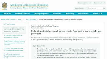 «الجراحين الأمريكية» تشيد بدراسة سعودية عن جراحات سمنة الأطفال