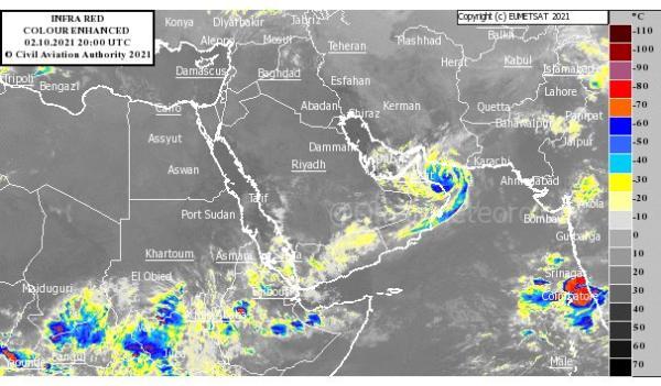 سلطنة عمان : إعصار شاهين يصل إلى اليابسة بين الـ6 والـ9 مساء