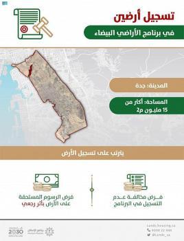 «الأراضي البيضاء»: تسجيل أرضين بمساحة 15,3 مليون م2 في جدة