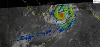 عاجل.. إعصار «شاهين» يدخل ولايتي «المصنعة والسويق» العمانية