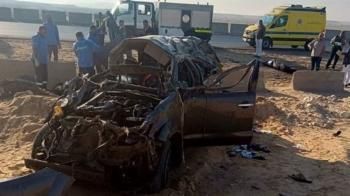 مصرع 8 في حادث مروري مروع على طريق الصعيد
