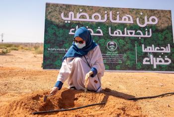 إنطلاق «لنجعلها خضراء» لتحفيز المشاركة المجتمعية في أعمال التشجير