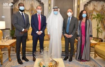 القنصل الأمريكي في ضيافة رئيس البنك الإسلامي للتنمية