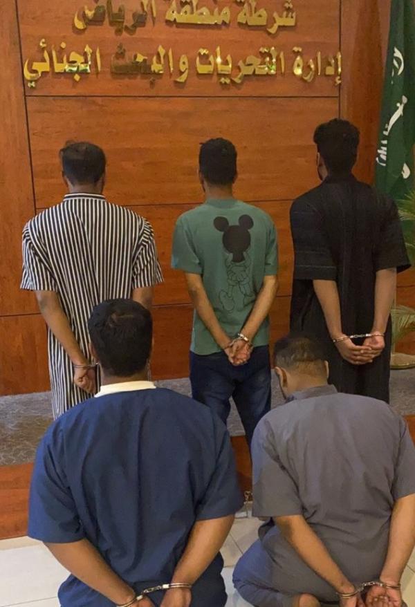 ضبط 5 مواطنين ارتكبوا جرائم سرقة بالرياض