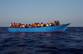 حرس الحدود الليبي ينقذ 70 مهاجرًا