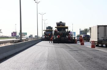 بالصور .. الانتهاء من إصلاح وتوسعة طريق الظهران الجبيل