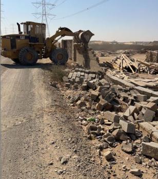 إزالة 50 ألف م2 من التعديات على أراضٍ حكومية بجدة