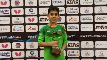 عبدالرحمن يخطف ذهب بطولة طاولة عمان