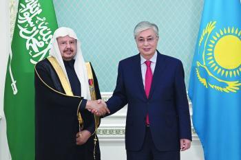 رئيس كازاخستان يؤكد عمق العلاقات الثنائية مع المملكة
