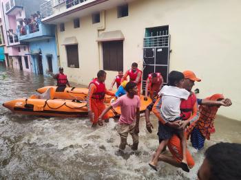 مصرع 34 شخصاً جراء الأمطار الغزيرة بالهند